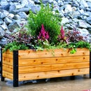 DIY Modern Raised Planter Box // How to Build - Woodworking