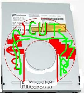 Cutting Out a Window in the DVD Housing