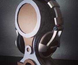 Stacked Cardboard Headphone Stand