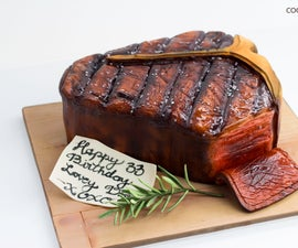 Realistic Porterhouse Steak Cake