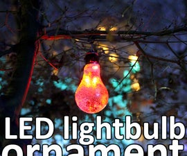 LED lightbulb ornament