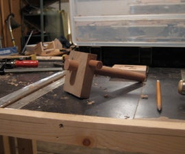 Make a marking gauge out of scrap wood