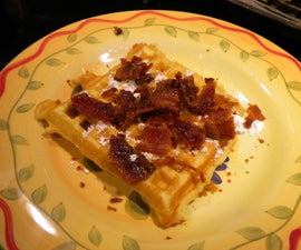 Candied Bacon Waffle Cookies!
