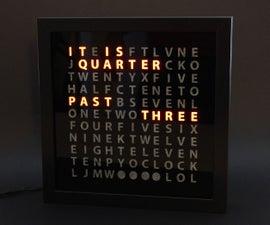 DIY Word Clock - In Seven Steps