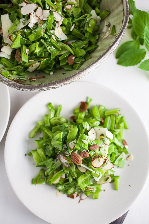 Picture of Minty Pea and Almond Salad