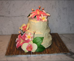 Gluten-free Tropical Flower Cake
