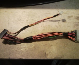 Making a PSU Power Cable for a Micro ATX MB to Fit Into a Normal Size PSU