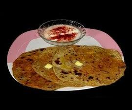 Paneer Paratha | Fresh Cheese Flatbread | Cottage Cheese Farata