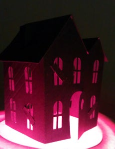3D Paper House for Halloween Decoration