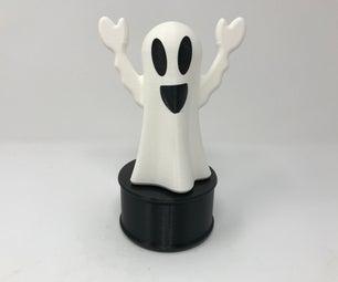 Animated & Illuminated Happy Ghost