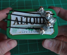 Pocket Kalimba With Bobby Pins, Corner Braces, and Magnets