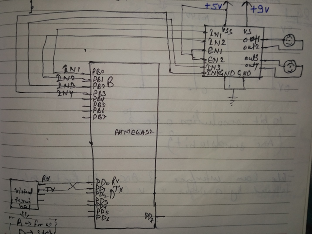 Picture of Basic Connections for Two Motors