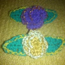 Crochet Flower Bud Brooch