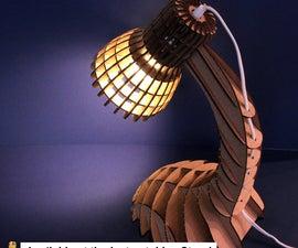Cardboard Desk Lamp