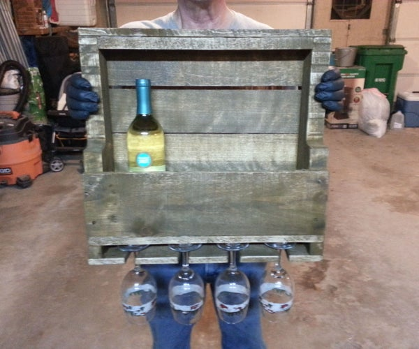 Wine Rack Made Out of a Pallet