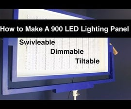 900 LED Light Panel for Video and Photography // 360 Degrees of Rotation