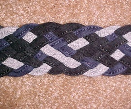 Braiding eight cords into a flat braid