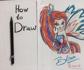 How to Draw Bloom From Winx Club (Sirenix Transformation)