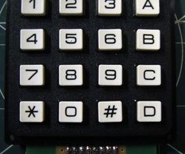 16-key Keypad Decoding with an AVR MCU