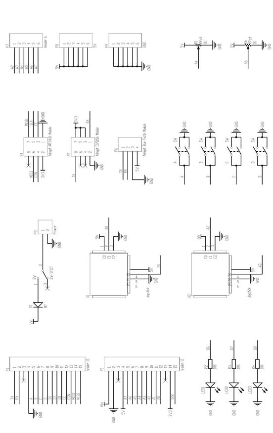 Picture of Schematic Diagram of Adeept Remote Control Shield
