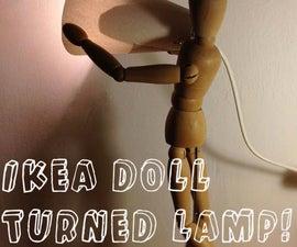 Ikea Doll Turned Adjustable Lamp!