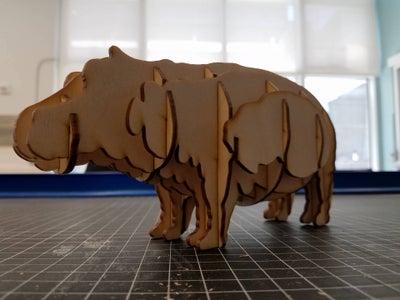 Laser Cut Hippo