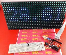 Display Temperature on P10 LED Display Module Using Arduino