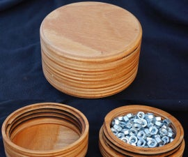 Wooden Tin With Threaded Lid