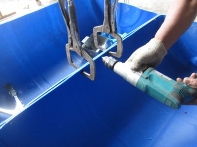 Drilling Hole to the PVC Drum