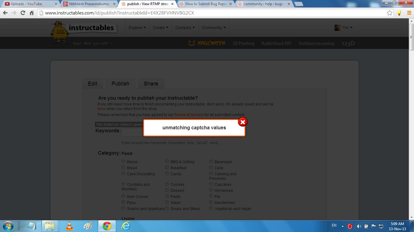 Fix ReCAPTCHA Errors on Instructables: 4 Steps