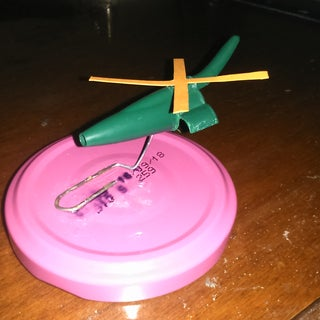 Helicopter Model From Ballpoint Cap