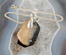 Stone and Diamond Necklace