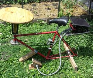 Solar Powered, Bike Frame Pottery Wheel
