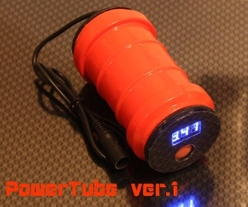 PowerTube Vr. 1 for Bicycle Headlight