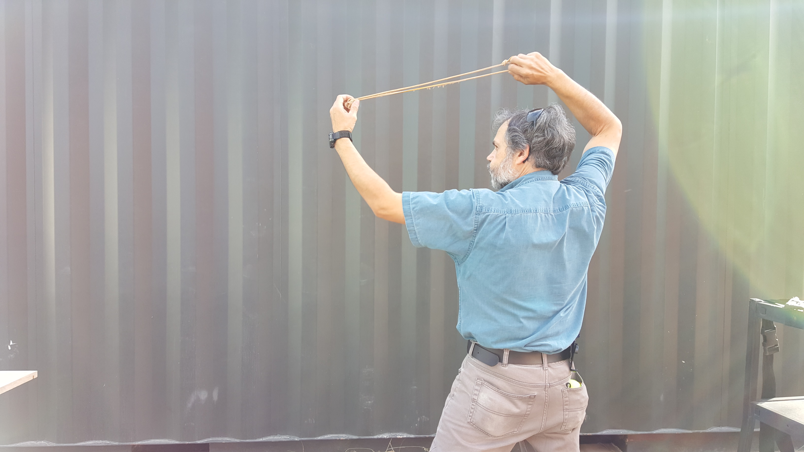 Picture of Practice Throwing a Sling
