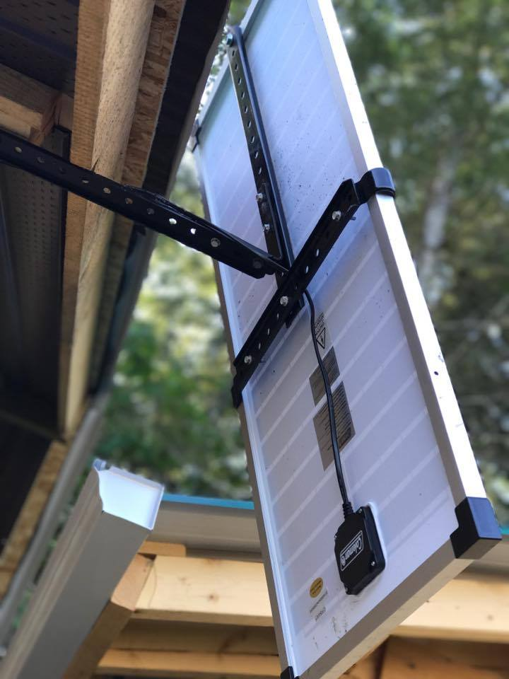 Picture of 40W Solar Panel and Charge Controller
