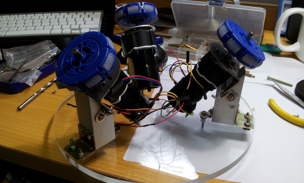 Picture of Add the Motors to the Acrylic Board