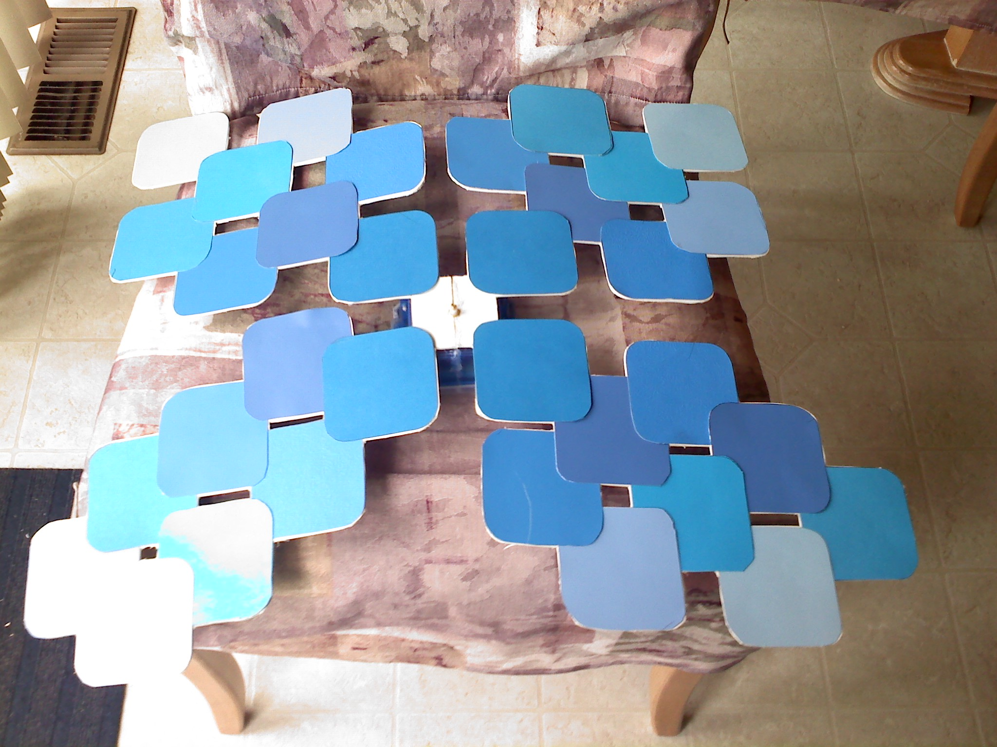 Picture of Glue Squares to Posater Board