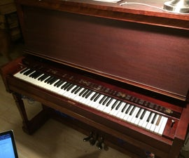 MIDI-Controlled 88 Key Reed Organ With MIDI-Over-Bluetooth