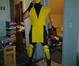 Make a Scorpion costume (Mortal Kombat ninja)