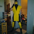 Make a Scorpion costume (Mortal Kombat ninja)
