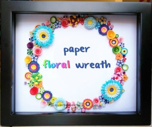 DIY Paper Floral Wreath