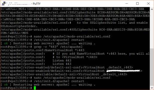 Reconfiguring Apache to Make SSL Changes