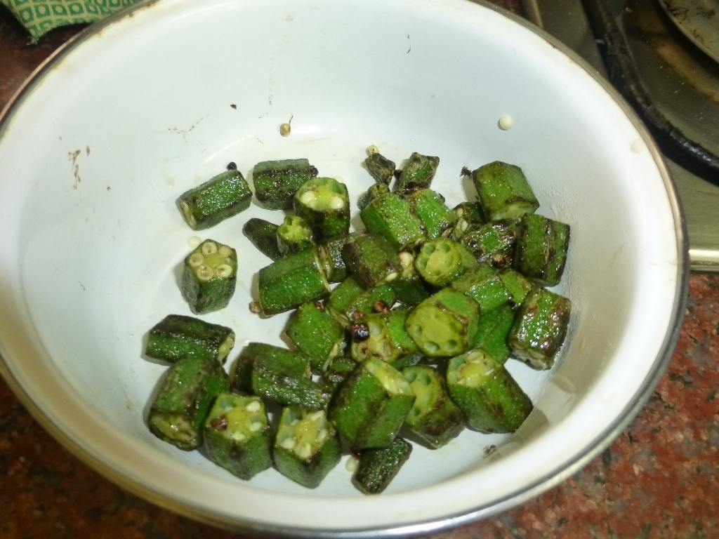 Picture of Cut and Stir-fry Okra