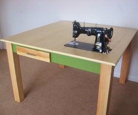 Make a Custom Sewing Table