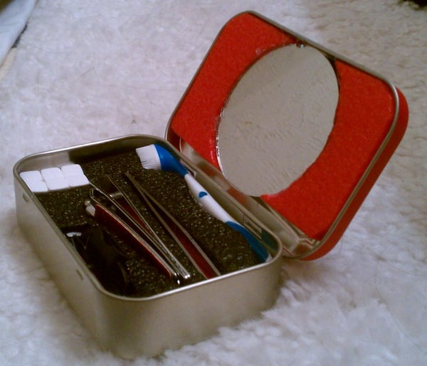 Stealthy Altoids Tin Grooming Kit