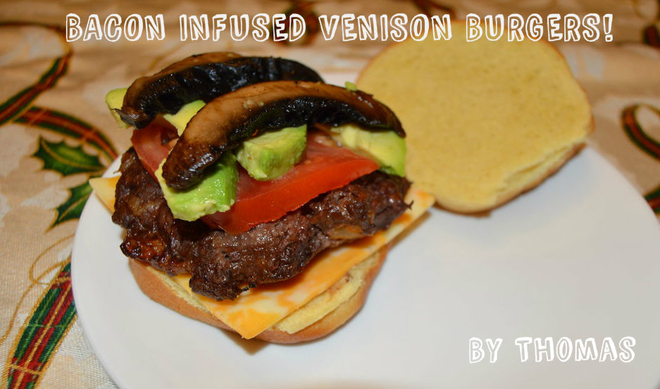 Picture of Bacon Infused Venison Burgers!