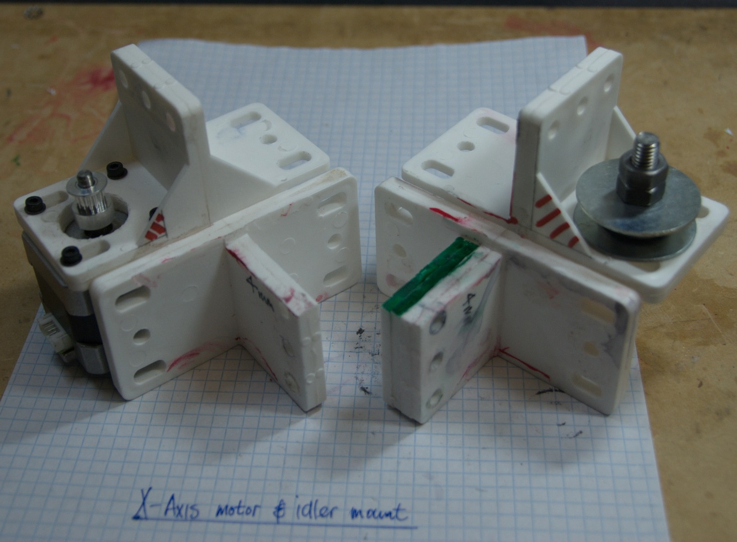 Picture of X-axis Motor  & Idler Mount