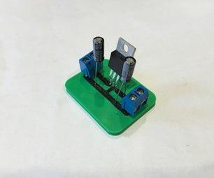 3D Printed Voltage Regulator Circuit Like PCB Circuit