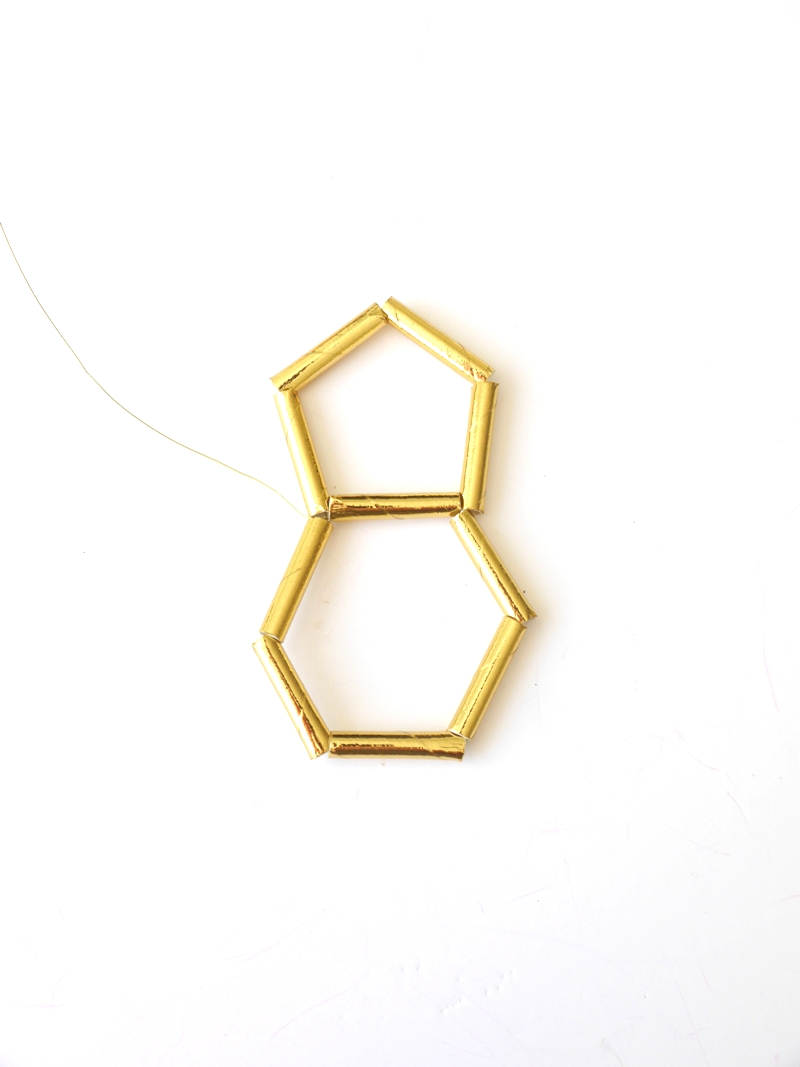 Picture of Making a Row of Pentagons - Part 2